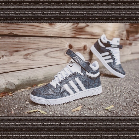 adidas Other - Adidas Snakeskin Concord II Mid Grey Luxe Mid Tops 04a605a4f